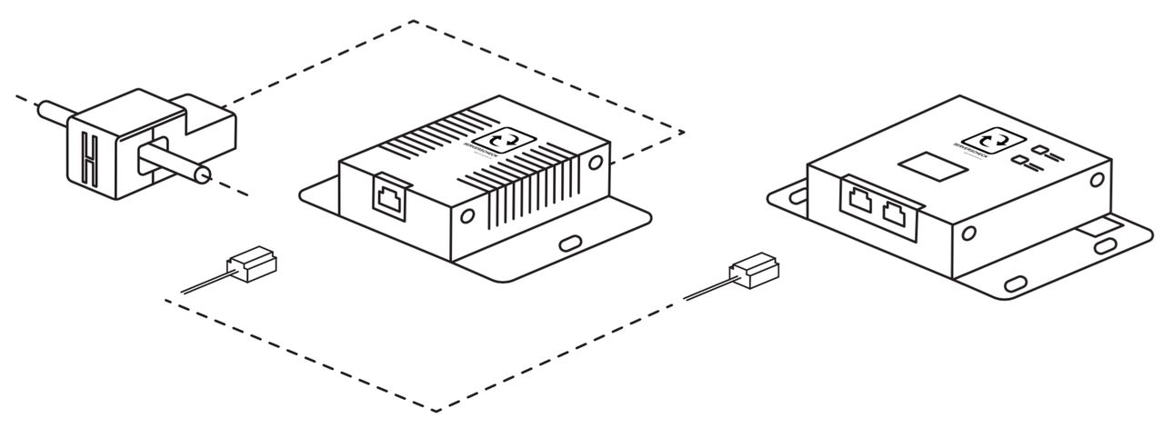 Illustration showing how the current sensor works